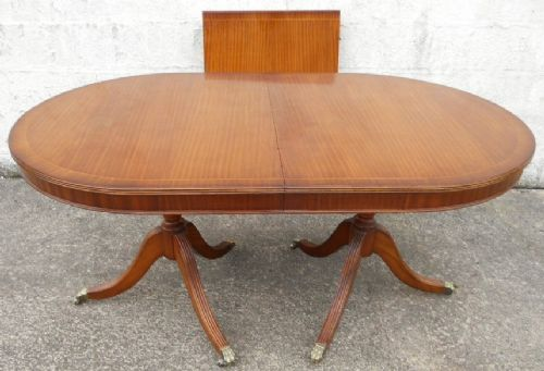 Antique Georgian Style Mahogany Extending Dining Table to Seat Eight - SOLD
